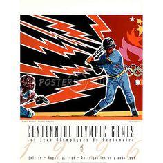 Hiro Yamagata Olympic Baseball 1996 Atlanta Official Sports Poster Print 18x24