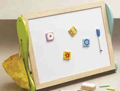 Tigris Wholesale Small Wooden 2 in 1 Blackboard and Whiteboard - Availability: in stock - Price: Wooden Building Blocks, Wooden Easel, Problem Solving Skills, Blackboards, Whiteboard, Diy Kits, 2 In, Lights, Frame