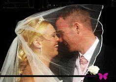 Wedding Photography Gateshead, bridal photography, bride and groom, church wedding, veil, princess dress, wedding dress, white wedding dress, groom, pink waistcoat and cravat, kiss, kiss under veil --- www.effiesphotography.co.uk --- weddings@effiesphotography.co.uk