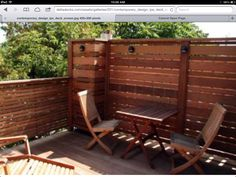 Deck idea ... Love the privacy wall
