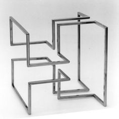 Paolo Scirpa Labirinto cubico. Struttura modulare, 1996 - acciaio inox Sculpture Metal, Geometric Sculpture, Architecture Concept Drawings, Interior Architecture, Interior Design, Metal Furniture, Furniture Design, Metal Art Projects, Cube Design