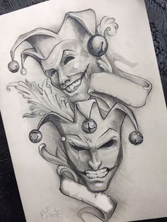 clown tattoo design the joker \ clown tattoo design + clown tattoo design gangster + clown tattoo design drawing + clown tattoo design the joker + clown tattoo design evil + clown tattoo design ideas + clown tattoo design vintage circus Dark Art Drawings, Tattoo Design Drawings, Pencil Art Drawings, Art Drawings Sketches, Tattoo Sketches, Tattoo Designs, Jester Tattoo, Clown Tattoo, Kunst Tattoos