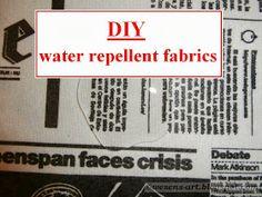 Wasserabweisender Stoff selbstgemacht durch Aufbügeln von Buchfolie | DIY | Water repellent fabrics