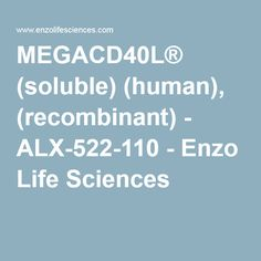 2016- Highly active MegaCD40L® oligomer mimics in vivo membrane-assisted CD40L aggregation and stimulation without the need for enhancers.
