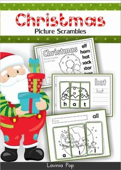 Christmas Picture Scrambles  This unit is included in my Christmas MEGA BUNDLE! Please do not purchase this unit if you have already purchased the mega bundle!  About this book: This book contains a Christmas vocabulary picture scramble booklet and 20 sight word picture scramble pages, intended for use with children in Kindergarten (Prep) and Grade 1.