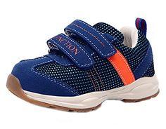great DADAWEN Boy's Girl's Hook-and-Loop Straps Sneakers Running Shoe (Toddler/Little Kid)