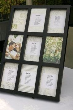 Photo-frame as wedding seating chart