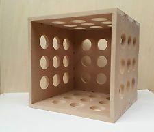 "12"" Vinyl LP Record Storage Cube Box Shelf Portable Stackable"