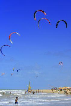 Kitesurfing em Cumbuco, Ceará, Brasil