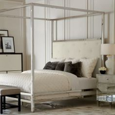 magdalena king bed | chrome finish, canopy and bedrooms