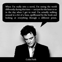Colin Firth #reading #books