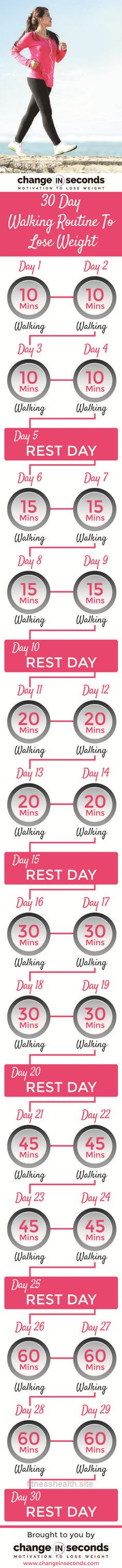 Check out this 30 Day Walking Routine To Lose Weight (Download PDF) The post 30 Day Walking Routine To Lose Weight (Download PDF)… appeared first on Fitness Programs .