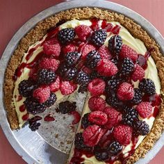 "Double Berry Custard Pie I ""My family devoured this pie - we had raspberries, blueberries, blackberries, and strawberries - perfect summer dessert!"""