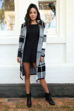 Brixton Check Coat by Madison Square at Midsummer Eve Women Clothing Stores Online, Check Coat, Eve Online, Online Fashion Boutique, Brixton, Online Boutiques, Madison Square, Latest Trends, Kimono Top