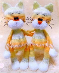 This fabulous Amigurumi Cat has almost high, cute ears whose size can be any you want. DESIGNED by Ira Ida HandMade SKILL LEVEL upper easy The Crochet Cat Toys, Crochet Baby Hats, Crochet Yarn, Crocheted Animals, Free Crochet, Doll Amigurumi Free Pattern, Crochet Cat Pattern, Afghan Crochet Patterns, Baby Patterns