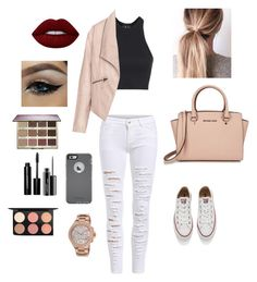 """""""Untitled #114"""" by fashionbaby1791 ❤ liked on Polyvore featuring Converse, Topshop, Zizzi, OtterBox, Michael Kors, Lime Crime, tarte, MAC Cosmetics and Bobbi Brown Cosmetics"""