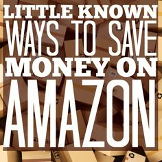 While we all know the savings to be had at Amazon, here are five little known was to save money while shopping on Amazon.com! Saving money is this easy!