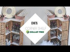 Dollar tree cornered makeup shelf dollar tree home decor. Makeup Room Diy, Diy Makeup Storage, Makeup Organization, Storage Ideas, Jewelry Storage, Diy Makeup Decor, Makeup Drawer, Storage Organization, Dollar Tree Organization