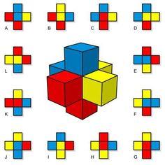 """Solución a... """"cruz de cubos"""" - matematicascercanas"""