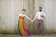 Rainbow and Strawberry Fields Engagement Session by RobertaRae