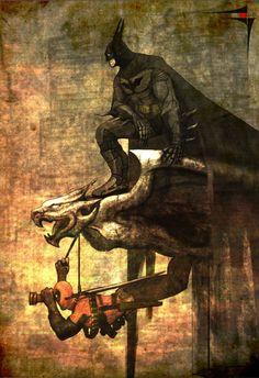 Batman and Deadpool by Saad Irfan