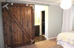 a cheaper way to hang the barn door