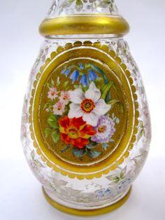 Pair Antique Bohemian Perfume Bottles - picture 2