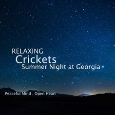 Relaxing Crickets - Summer Night in Georgia https://sleepmusic.bandcamp.com/album/sleep-and-relaxation-nature-sounds-crickets-summer-night