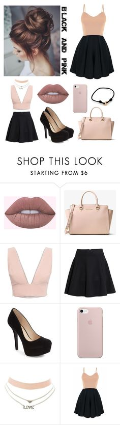 """Black and pink outfit"" by sophie01234 ❤ liked on Polyvore featuring MICHAEL Michael Kors, Animale, H&M, Jessica Simpson, Charlotte Russe and Cartier"