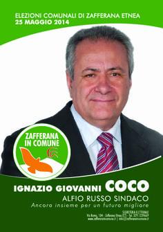 I nostri Candidati:Ignazio Giovanni Coco #ZafferanainComune #AlfioRussoSindaco