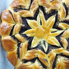 Gwiazda makowa | AniaGotuje.pl Cantaloupe, Poppies, Pineapple, Vegetarian, Fruit, Recipes, Food, Cakes, Per Diem