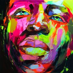 Portrait by Françoise Nielly Pop Art, Power Pop, Andy Warhol, Oeuvre D'art, Black Art, Painting Inspiration, Art Lessons, Amazing Art, Awesome