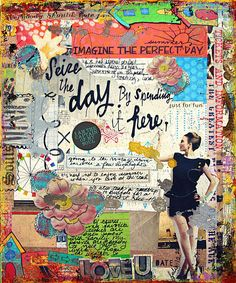 Art Journaling 102: Hybrid Feature – Reverse Hybrid, Hybrid Canvas, & AJC Gallery Finds | Studio Tangie. Page by Julie Ann Shahin