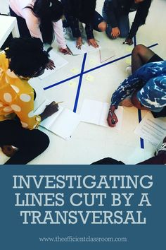 This blog post gives ideas for a wonderful exploratory activity which allows students to discover the theorems and postulates related to lines cut by a transversal. It gets students up and moving and talking! Link to free download inside! Students investigate and determine when the alternate interior angles, alternate exterior angles, and corresponding angles are congruent (lines are parallel) and when they aren't (lines are not parallel). Fun and instructive lesson for Geometry students!