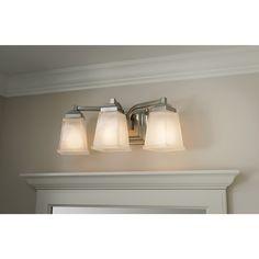seashell bathroom lighting fixtures. shop allen + roth 3-light elloree brushed nickel bathroom vanity light at lowes. seashell lighting fixtures
