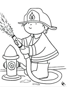 Printable Firefighter Coloring Pages