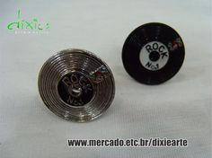 Anéis disco de vinil  www.mercado.etc.br/dixiearte