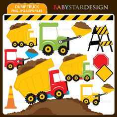 Dump Truck Clipart INSTANT DOWNLOAD by babystardesign on Etsy, $5.00