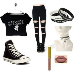 5sos❤️ by kayleeblyth on Polyvore featuring polyvore, mode, style and Converse