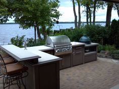 Stock Outdoor Kitchen #301 with Big Green Egg!! 2012 Award by Hearth and Home Magazine.