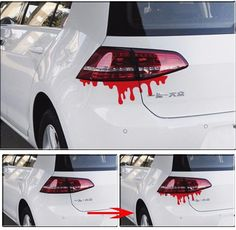 Red blood dropping scary funny car sticker decals waterproof cute reflective