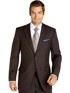 Suits - Pronto Uomo Platinum Suit, Brown Stripe - Men's Wearhouse ...