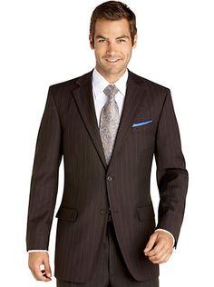 Suits - Pronto Uomo Platinum Suit, Brown Stripe - Men's Wearhouse ...
