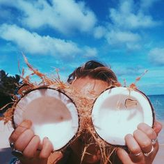 I feel like this pic sums up vacation 2015 perfectly. Coconut, coconut, and more coconut (and a lemon daiquiri or two)!