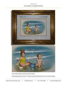 Cosimo Carmosino Art_Portraits_Mediums: Acrylics and Mixed Media_Title: Children Bathing in Warm Memories