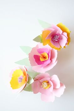 DIY pin on paper flower corsage