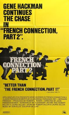 French Connection II (1975) Original Style D One Sheet Movie Poster