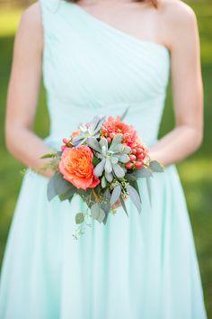 Mint bridesmaid look: http://www.stylemepretty.com/maryland-weddings/2014/10/14/diy-maryland-historic-homestead-wedding/ | Photography: Abby Caldwell - http://abbycaldwell.com/