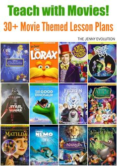 Are you ready to up your game in teaching the kids? Get ready to engage your students and teach with movies using these movie-themed lesson plans! from The Jenny Evolution