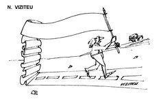 Caricatura de N. VIZITEU, publicata in almanahul PERPETUUM COMIC '97 editat de URZICA, revista de satira si umor din Romania